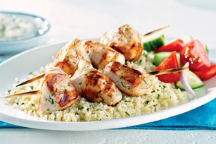 Greek Chicken Skewers by Rosey Cooks